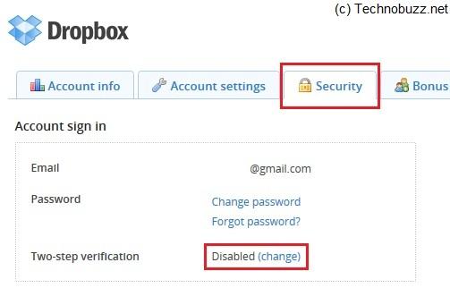 Dropbox 2 Step Verification