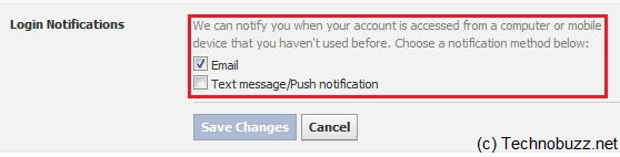 Enable Facebook Login Notifications