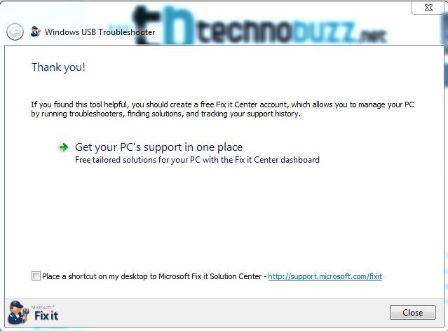 USB error Fixed