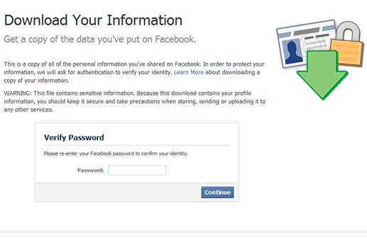 Facebook Data Download