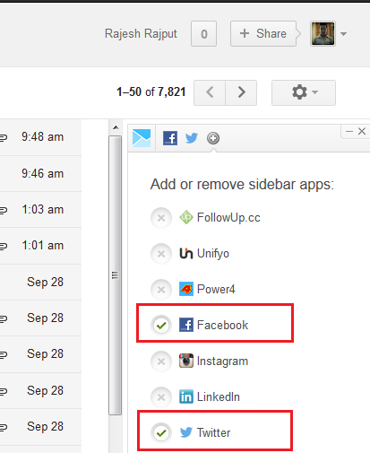 Add Facebook and Twitter Account