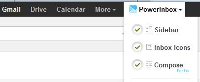 PowerInbox Icon on Gmail