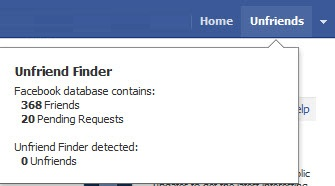 Unfriend Finder Screenshot