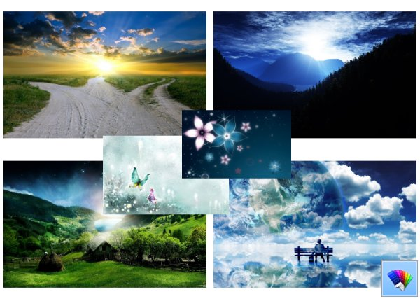 3D fantasy theme for Windows 8