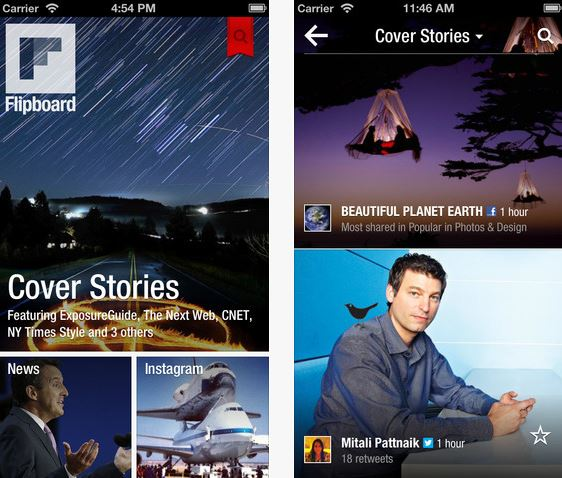 Flipboard iPhone iPad App.