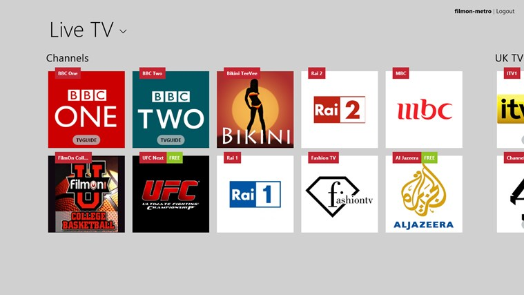 Watch Live TV Online on Windows 8 With Free Live TV App