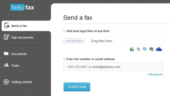 Send free fax Online form Your PC