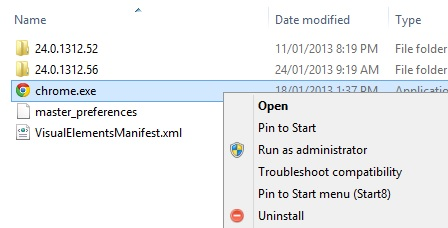 Uninstall apps from Windows Explorer