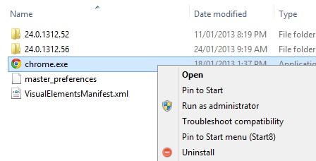 Uninstall apps from Windows Explorer