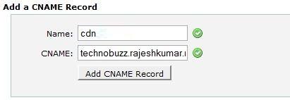 Add a Cname record