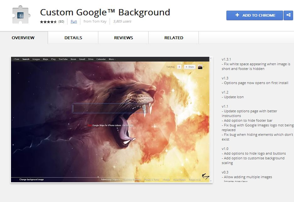 Custom Google Background Addon