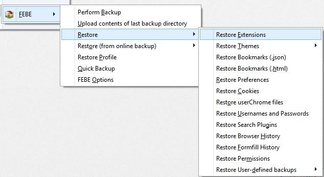 Febe Restore Backup