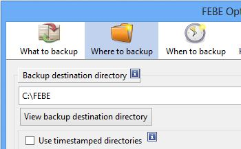 Febe Where to Backup
