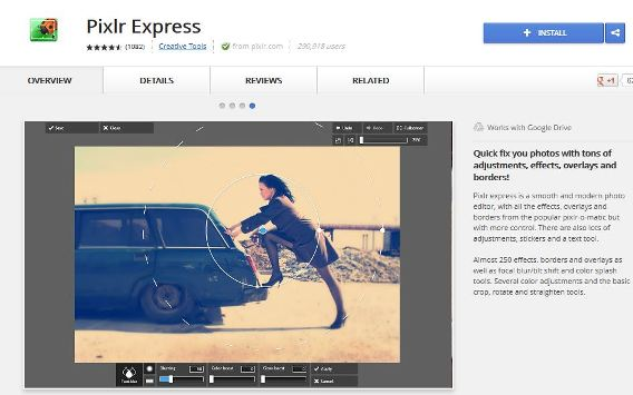 Install Pixlr Express