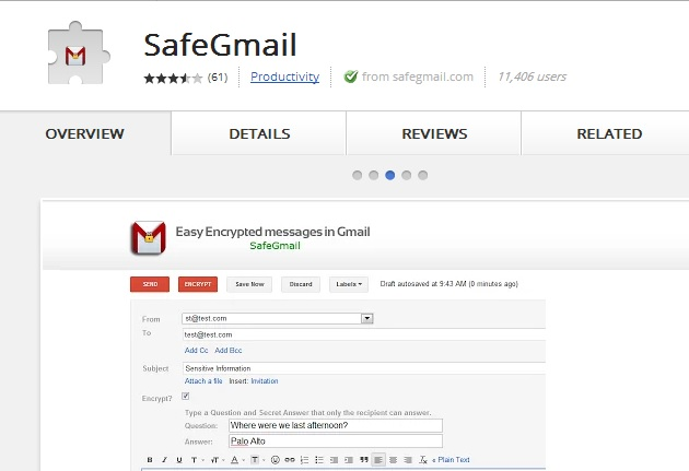 SafeGmail Addon