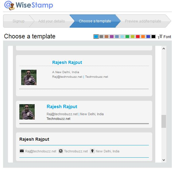 WiseStamp Email Signature Templates