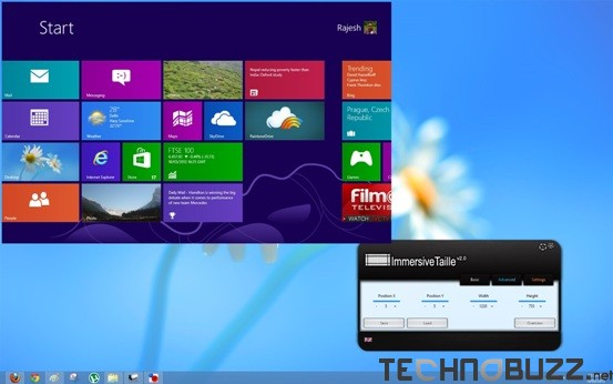 Add Windows 8 Start Screen on Desktop