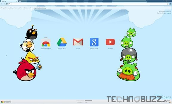 Angry Birds Google Chrome Theme