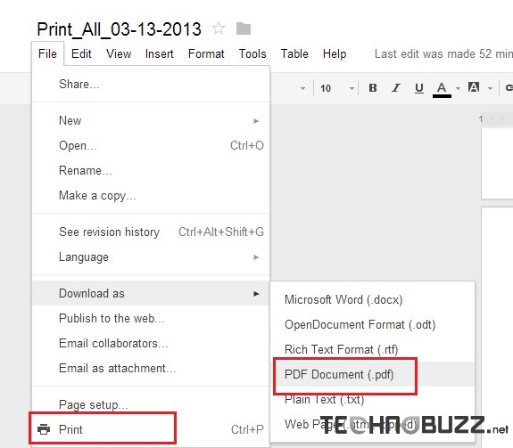 Print Gmail Emails or Save As PDF