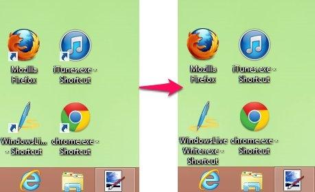 Remove Shortcut Arrow in Windows 8 Icons