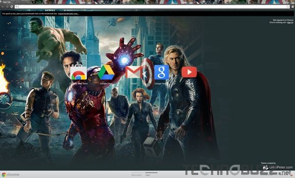 The Avengers Google Chrome Theme