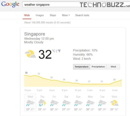 Check Weather in Google Search