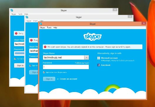 Login Multiple Skype Accounts on Windows