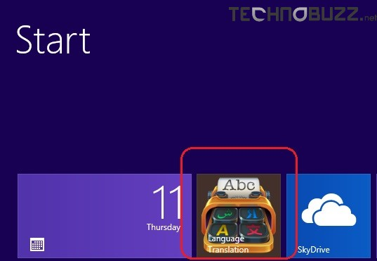 Windows 8 Translator App