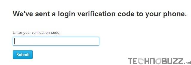 Enter Twitter Verification Code
