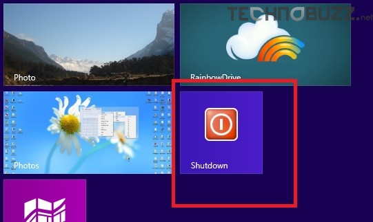 Windows 8 Shutdown button On Start Screen