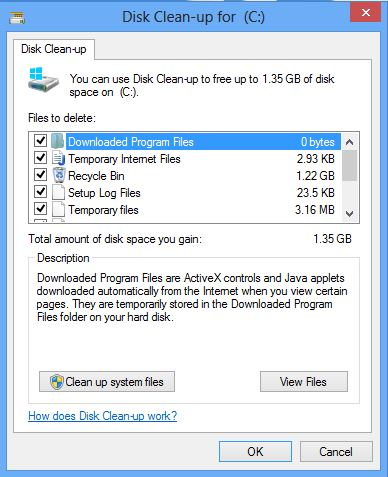 Windows Disk Clean up Tool