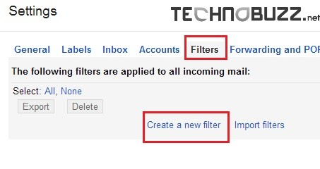 Create a new Filter