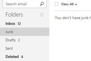 Outlook.com Email Folders