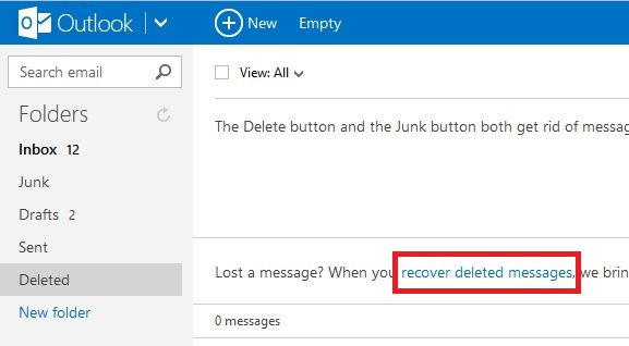 Recover Deleted Messages In Outlook