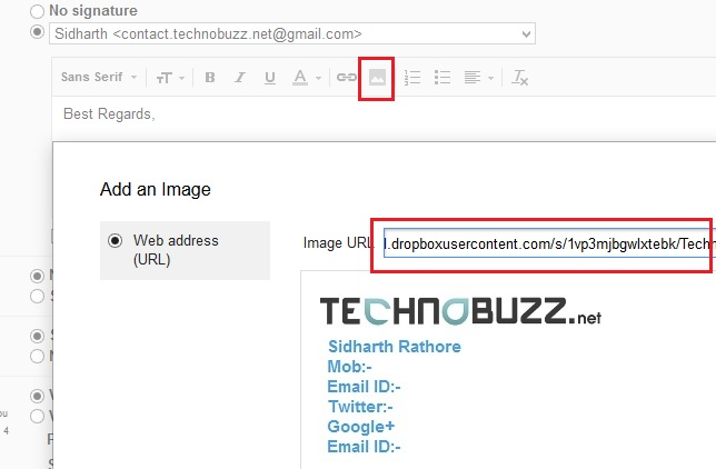 Add Image on Your Gmail Signature