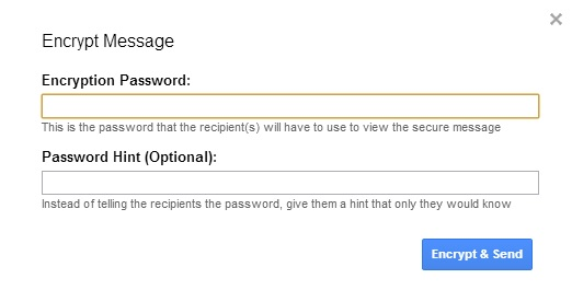 Add Password On Gmail Message