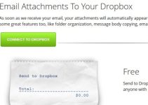 Email Attachments To your Dropbox