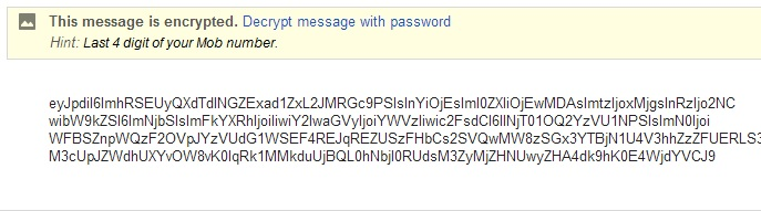 Enter Password to read Email