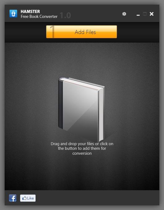 Hamster Free eBook Converter Add File
