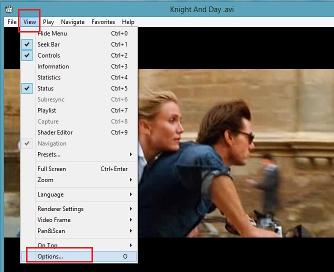 Media Player Classic View Options