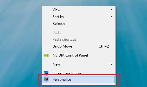 Personalise Desktop