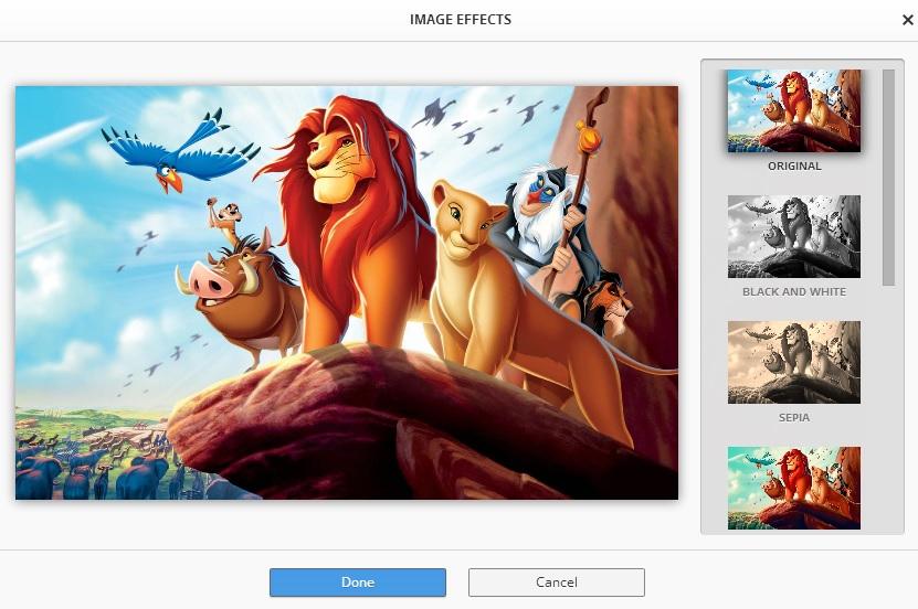 Change Google Chrome Theme Image Effects