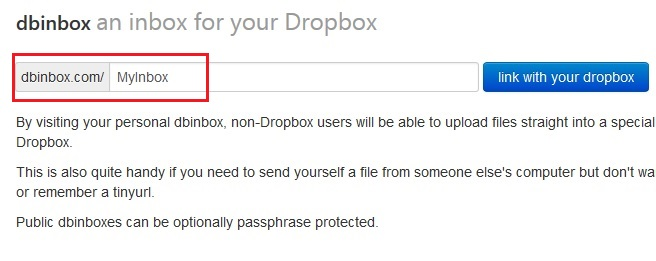 Create Link For Dropbox