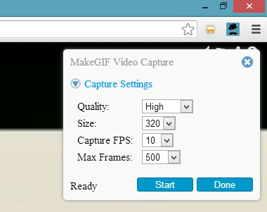 MakeGif Capture Settings