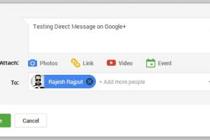 Send Private Message From Google Plus