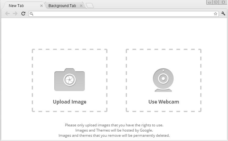 Upload Image For Chrome Theme
