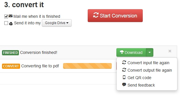 Save Converted File