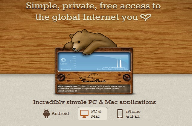 Tunnel Bear VPN Service