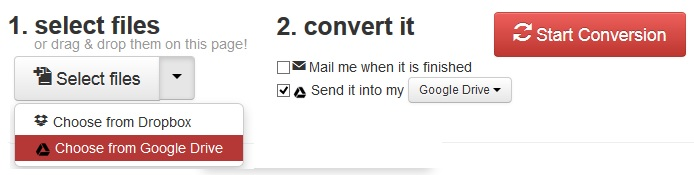 Upload  File to Convert