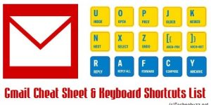 Gmail Cheat Sheet & Keyboard Shortcuts